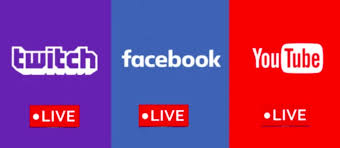 youtube twitch and fb - Best 3 Live Streaming Sites